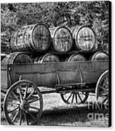 Roll Out The Barrels Canvas Print by Mel Steinhauer