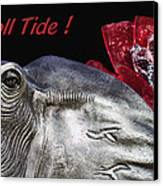 Roll Tide - 14 Time National Champions Canvas Print by Kathy Clark
