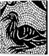Roman Mosaic Bird Canvas Print by Mair Hunt