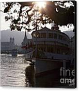 Romantic Afternoon Scenic In Lucerne Canvas Print by George Oze