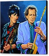 Ron Wood And Keith Richards Canvas Print by Paul Meijering