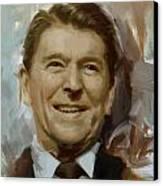 Ronald Reagan Portrait Canvas Print by Corporate Art Task Force