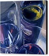 Rosenblum And Glasses Canvas Print by Donna Tuten