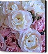 Roses On The Veranda Canvas Print by Carol Groenen