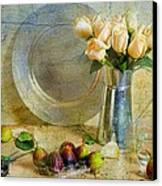 Roses With Figs Canvas Print by Diana Angstadt