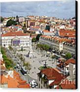 Rossio Square Canvas Print by Carlos Caetano