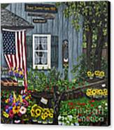 Round Swamp Farm By Alison Tave Canvas Print by Sheldon Kralstein