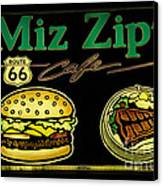 Route 66 Miz Zips Canvas Print by Bob Christopher