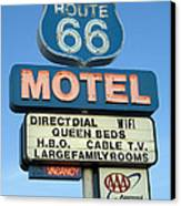 Route 66 Motel Sign 3 Canvas Print by Bob Christopher