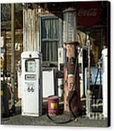 Route 66 Pumps Canvas Print by Bob Christopher