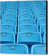 Rows Of Emtpy Seats Canvas Print by Yali Shi