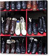 Rows Of Shoes Canvas Print by Garry Gay