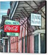Royal Pharmacy Canvas Print by Brenda Bryant