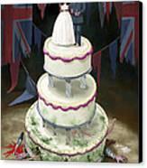 Royal Wedding 2011 Cake Canvas Print by Martin Davey