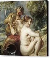 Rubens, Peter Paul 1577-1640. Nymphs Canvas Print by Everett