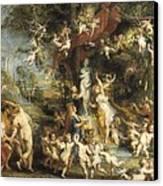 Rubens, Peter Paul 1577-1640. The Feast Canvas Print by Everett