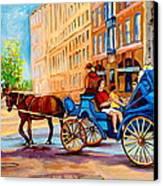 Rue Notre Dame Caleche Ride Canvas Print by Carole Spandau
