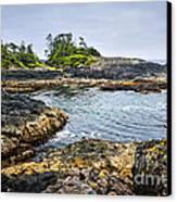 Rugged Coast Of Pacific Ocean On Vancouver Island Canvas Print by Elena Elisseeva
