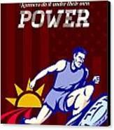 Runner Running Power Poster Canvas Print by Aloysius Patrimonio