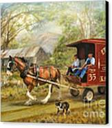 Rural Deliveries Canvas Print by Trudi Simmonds