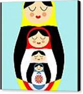 Russian Doll Matryoshka Canvas Print by Patruschka Hetterschij