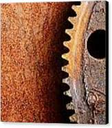 Rusted Gear Canvas Print by Jim Hughes