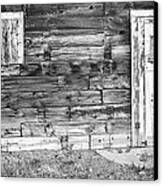 Rustic Old Colorado Barn Door And Window Bw Canvas Print by James BO  Insogna