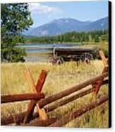 Rustic Wagon Canvas Print by Marty Koch