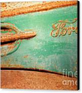 Rusting Ford Canvas Print by James Brunker