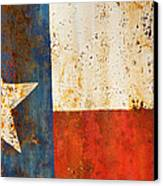 Rusty Texas Flag Rust And Metal Series Canvas Print by Mark Weaver