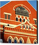 Ryman Auditorium Canvas Print by Brian Jannsen