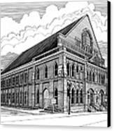 Ryman Auditorium In Nashville Tn Canvas Print by Janet King