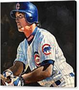 Ryne Sandberg - Chicago Cubs Canvas Print by Michael  Pattison