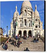 Sacre Coeur - Parisian Landmark Canvas Print by Mark E Tisdale