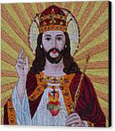 Sacred Heart Of Jesus Hand Embroidery Canvas Print by To-Tam Gerwe