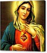 Sacred Heart Canvas Print by Unknown