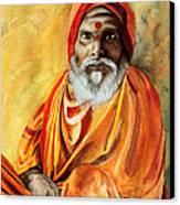 Sadhu Canvas Print by Janet Pancho Gupta