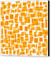 Saffron Yellow Abstract Canvas Print by Frank Tschakert