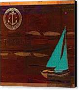 Sail Sail Sail Away - J173131140v3c4b Canvas Print by Variance Collections