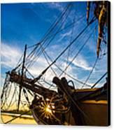 Sailboat Sunrise Canvas Print by Robert Bynum