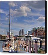 Sailboats In Constitution Marina - Boston Canvas Print by Joann Vitali