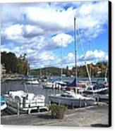Sailboats On Sunapee Canvas Print by Will Boutin Photos