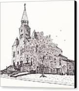 Saint Bridget Church Canvas Print by Michelle Welles