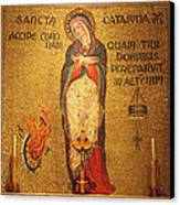 Saint Catherine Of Alexandria Altar Canvas Print by Philip Ralley