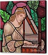 Saint Cecilia Canvas Print by Gilroy Stained Glass
