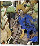 Saint George And The Dragon Canvas Print by Getty Research Institute