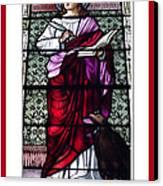 Saint John The Evangelist Stained Glass Window Canvas Print by Rose Santuci-Sofranko