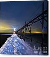 Saint Joseph Pier In Evening Canvas Print by Twenty Two North Photography