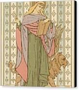 Saint Mark Canvas Print by English School