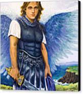 Saint Michael The Archangel Canvas Print by Patty Kay Hall
